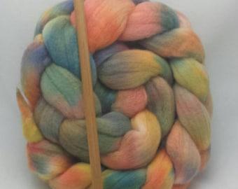 Hand dyed merino roving ....