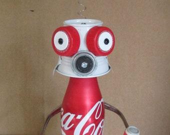COCA~COLA KID- Found object robot sculpture~assemblage