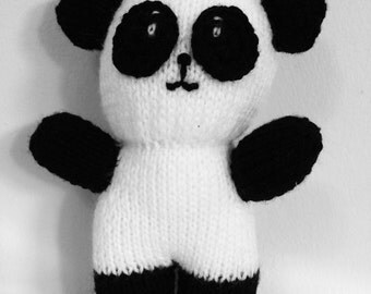 Hand Knitted Panda Soft Toy