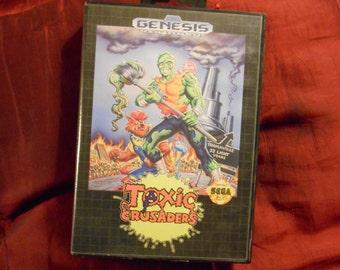 TOXIC CRUSADERS for Sega Genesis 100% Complete!