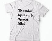 3 Mountains Shirt - Thunder, Splash, Space Mountain - Men and Women's Disney Tee