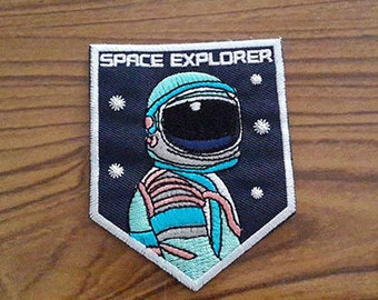 Astronaut Iron on Patch - Astronaut Applique Embroidered Iron on Patch