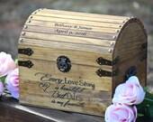 Shabby Chic Wedding - Rustic Wooden Card Box - Rustic Wedding Decor - Card Holder - Wedding Card Box - Rustic Wedding Card Box - Program Box