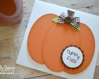 Pumpkin Card, Fall Card, Autumn, Happy Fall Greeting Card, Handmade Card, Paper Piecing, Pumpkin Everything, Pumpkin Spice