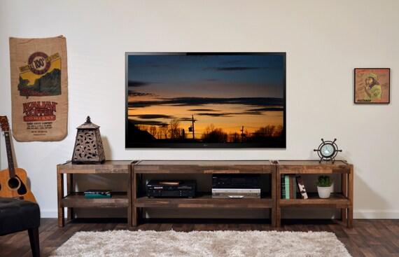 Meuble Tv Bois Grange : Meuble Tv Bois – Bois De Palettes & Grange Bois Style Entertainment