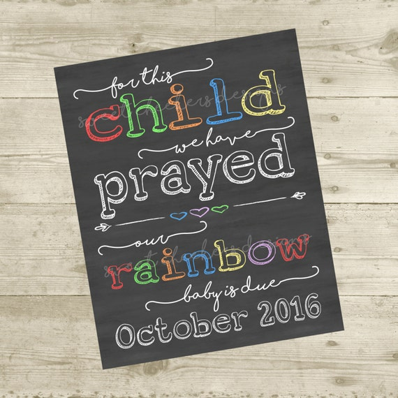 Printable For This Baby We Have Prayed Pregnancy Announcement