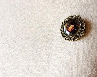 Medusa by Caravaggio Cameo Pin Brooch - Art History Jewelry - Baroque Art - Medusa Pin - Medusa Brooch - Caravaggio Jewelry - Caravaggio Pin