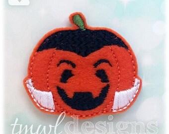 """Pumpkin Vampire Feltie Digital Design File - 1.75"""""""