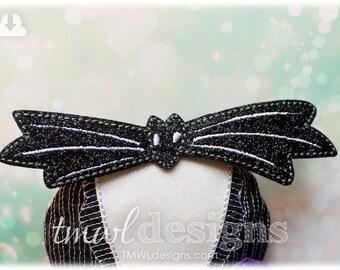 Christmas Nightmare Jack Bat Bow Tie OS Feltie Digital Design File - Halloween, Costume Accessory