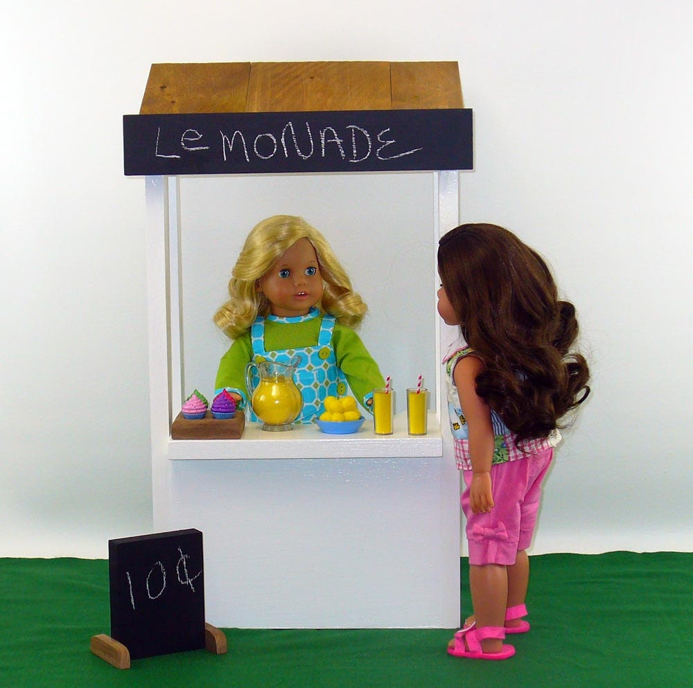 18 Inch Doll Furniture Lemonade Stand American Made Doll
