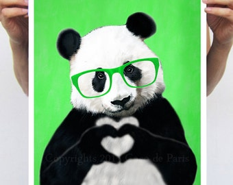 Panda Poster by Coco de Paris