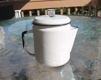 Enamel Percolator Coffee Pot
