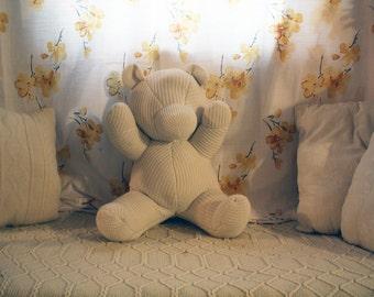 Plush Knit Teddy Bear
