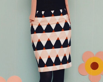 "Pencil skirt ""triangle HILL"" in black Rosé"