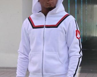Hikaru Ichijou VF-1 Valkyrie Hoodie Macross Cosplay Costume Jacket