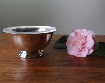 """4 1/2"""" ~ Paul Revere Bowl ~  Silver Plate ~ Reed & Barton ~  Revere Bowl with Liner"""