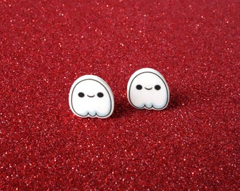 Ghost earrings, halloween earrings, girls earrings, stud earrings