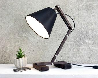 Wooden Lamp, Desk Lamp, Table Lamp, Adjustable Lamp, Fashion Lamp, Reading Lamp, Bedside Lamp, Office Desk Decor, Unique Gift, Krat