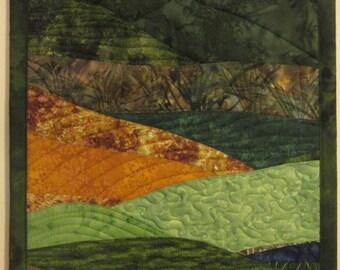 Art Quilt Landscape 5, Wall Hanging