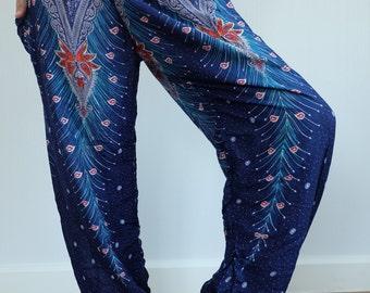 SM0107 Aladdin Trouser, Boho Pants Gypsy Pants Rayon Pants Genie Pants Comfy