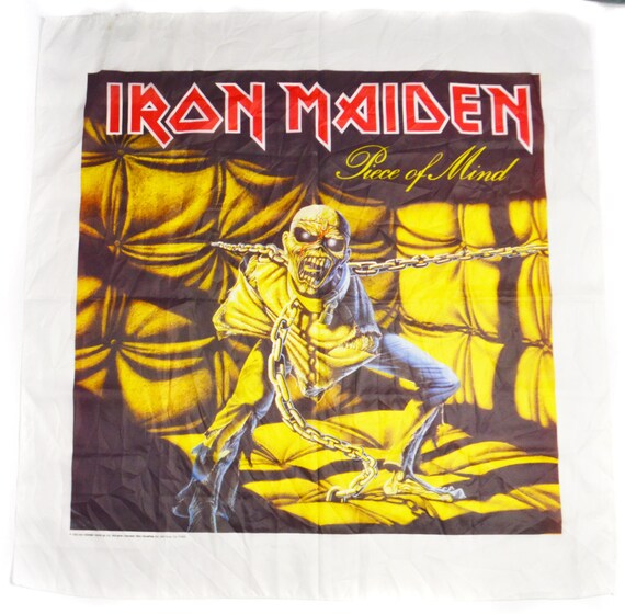 Vintage 80s Iron Maiden Piece of Mind Cloth Banner Flag Poster