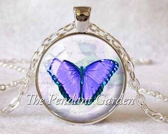 BUTTERFLY PENDANT LAVENDER Butterfly Purple Butterfly Necklace Butterfly Jewelry Lavender Insect Jewelry Butterfly Lover Gift