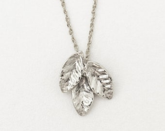 14k gold pendant necklace, leaf pendant charm, 14k gold necklace, Delicate leaf necklace, gold leaf pendant necklace, Mothers Day Gifts