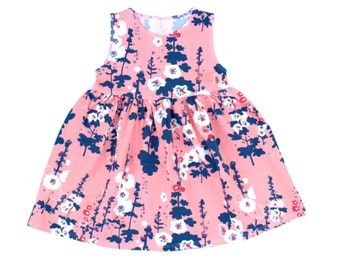 Baby Dress, Toddler Dress, Girls Dress, Birthday Outfit, Pink Lunar Tank Dress, Floral Dresses, Kids Clothing, Sizes Infant to Size 6