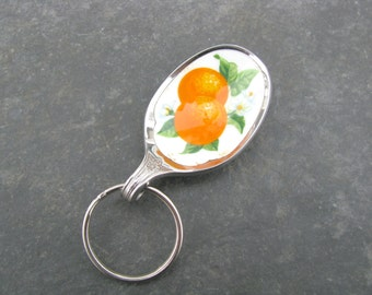 Oranges Spoon Keychain, Orange Spoon, Vintage Avon Spoon, Avon Collectible