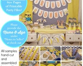 MINIONS Party Printable | Minion Decorations | Minions Birthday | Minions favors | Minions Party Decor | Minions Party Epic Parties by REVO