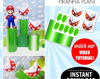 Super Mario Bros. Printable Piranha Plant | INSTANT DOWNLOAD | Mario Birthday | Mario Printable | Piranha Plant Only | Epic Parties by REVO