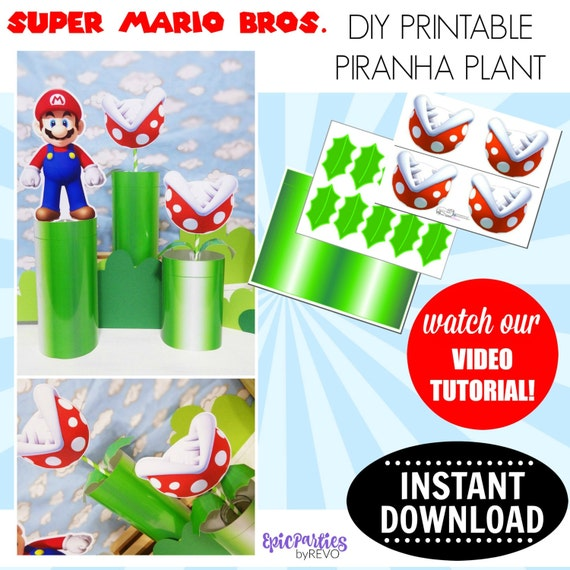 Super Mario Bros Printable Piranha Plant