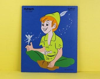 Vintage Peter Pan Walt Disney Playskool Puzzle Decor