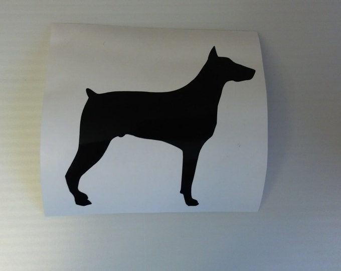 Doberman Vinyl Decal