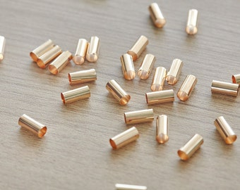 20 pcs of Gold Plated Column Tube Brass Beads