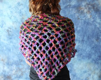 Crochet Multicolored Shawl