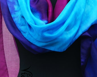 Extra large silk scarf 75X36 INCHES!