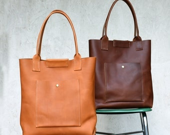 Daydreamer Tote -  Handmade Leather Tote Bag