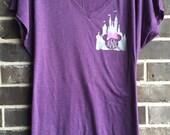 Free Shipping! Disney Monogram Castle Raglan / Disney Shirts / Disneyworld Shirts / Minnie Mouse Shirts