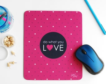 Mouse Pad: Pink Heart