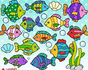 tropical fish and coral reef illustrations ocean clip Beach Shells Clip Art Queen Conch Shell