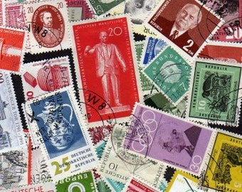 50 Diff Germany Postage Stamps, Germany, German Stamps, German Postage Stamps, Postage Stamps, Stamps, Scrapbooking