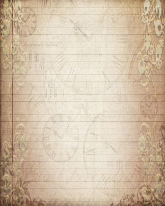 printable journal page vintage filigree lined digital