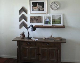 Wooden Chevron Arrows Barn Wood Set of 3   Gallery Wall Art Reclaimed Wood Sign