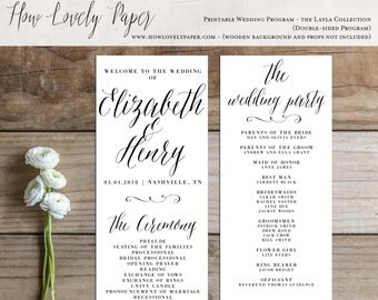 Printable Wedding Program - the Layla Collection