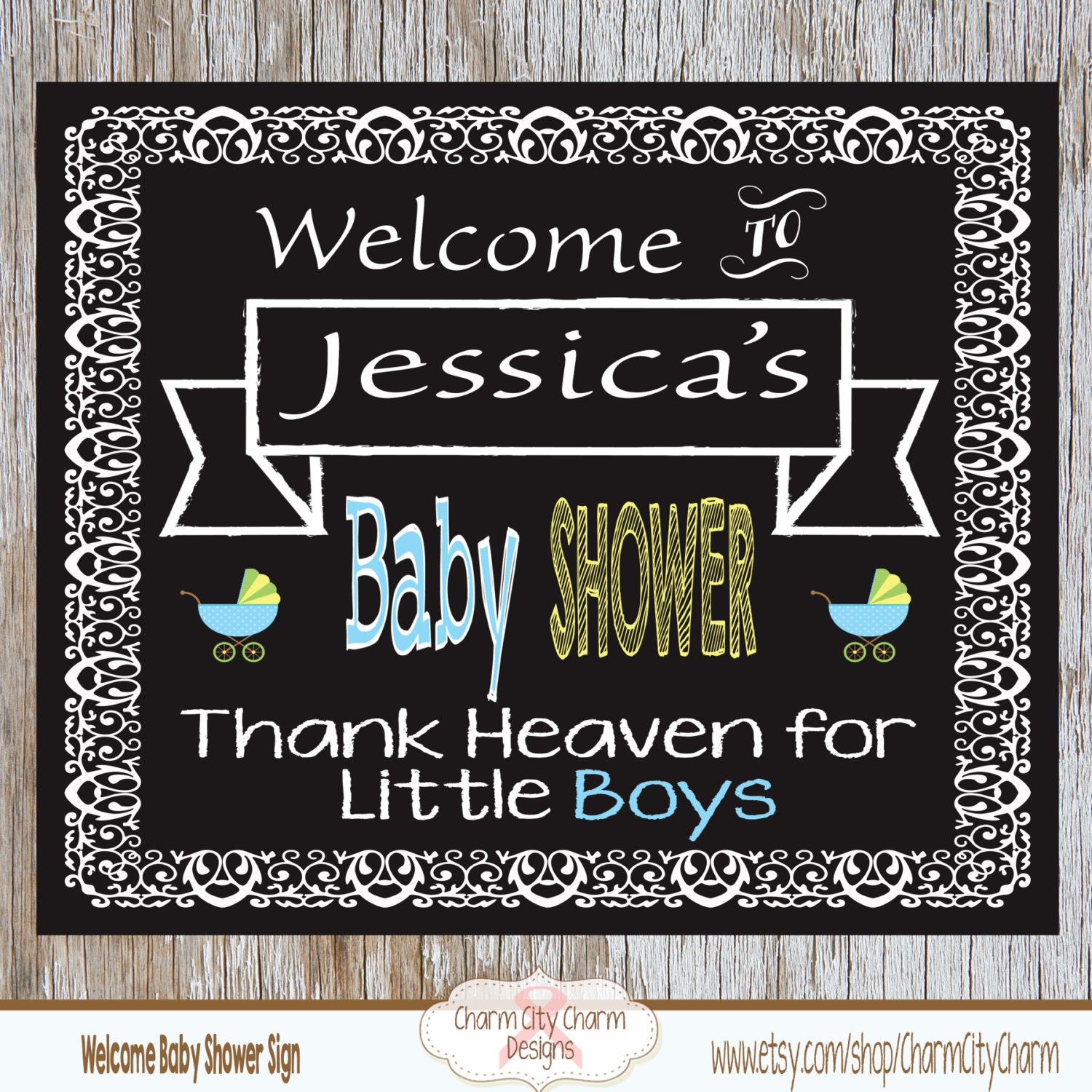 welcome baby shower chalkboard sign baby boy shower welcome