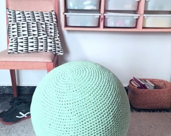 Birth Ball Cover - Crochet Gym Ball Covers-Pilates Yoga Ball cover- Exercice Ball Knit Cover- Nursery Decor- Kids Balls- Eco friendly Decor