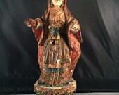 Antique Saint, Madonna with Child Jesus no. VIII; c 1775-1825, Brazil, Spanish Colonial Santos