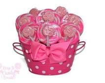 Pink lollipop centerpiece, pink candy centerpiece, pink candy buffet, pink baby shower, its a girl, baby girl centerpiece, sweet 16 pink