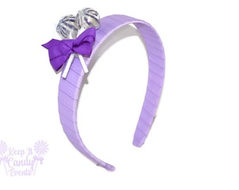 Purple Lollipop Headband , Purple Headband, Purple Candy Headband, Purple Flowergirl Accessory, Violet Wedding ideas, Purple Hair Accessory